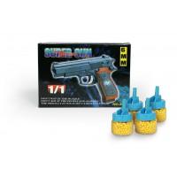 Όπλο πλαστικό 18εκ. με 4 κουτάκια μπίλιες - 24870-18660