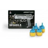 Όπλο πλαστικό 19εκ. με 4 κουτάκια μπίλιες - 50370-18660