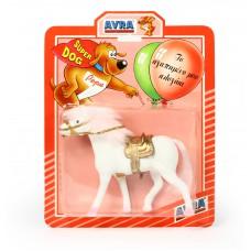 Άλογο 16εκ. με βελούδινη χαίτη σε καρτέλα, σε 3 χρώματα - 000738
