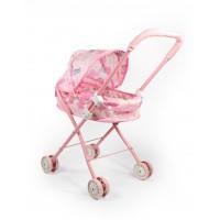 Καρότσι κούκλας μεταλλικό ροζ - 18699