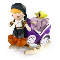 Κουνιστή άμαξα με κούκλα WJ-670-F1950