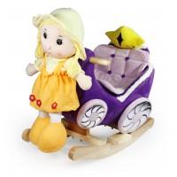 Κουνιστή άμαξα με κούκλα σε 5 χρώματα WJ-670-51520