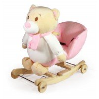 Κουνιστό αρκουδάκι Pinky - WJ-6108P-W