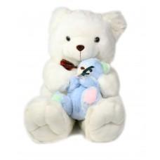 Αρκούδα 80 εκ. λευκή αγκαλίτσα - 20763Β-004699
