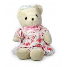 Αρκουδάκι με φόρεμα 30εκ. - 004743