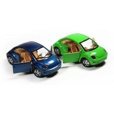 Αυτοκινητάκι μεταλλικό beetle 16εκ. 1:24 σε 2 χρώματα - 9712Β-WL