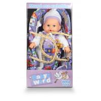 Μωράκι 30εκ. σε καλαθούνα που μιλάει σε 3 χρώματα - 007638