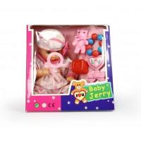 Κούκλα 28εκ. που μιλάει με αξεσουάρ σε 2 χρώματα - 91610
