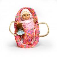 Κούκλα 35εκ. σε καλαθούνα με αρκουδάκι - 31281-31TCBK