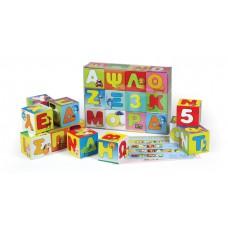 Ξύλινοι κύβοι με γράμματα & αριθμούς - 009540