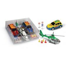 Οχήματα frixion σετ, αυτοκίνητα / ελικόπτερο - 006280