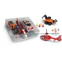 Οχήματα frixion σετ, αυτοκίνητο / ελικόπτερο / δομικό - 006310
